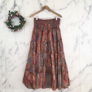 Ralph Lauren Peasant Style Maxi Skirt